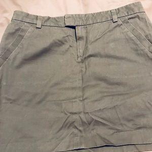 Tommy Hilfiger ladies grey skirt khaki material